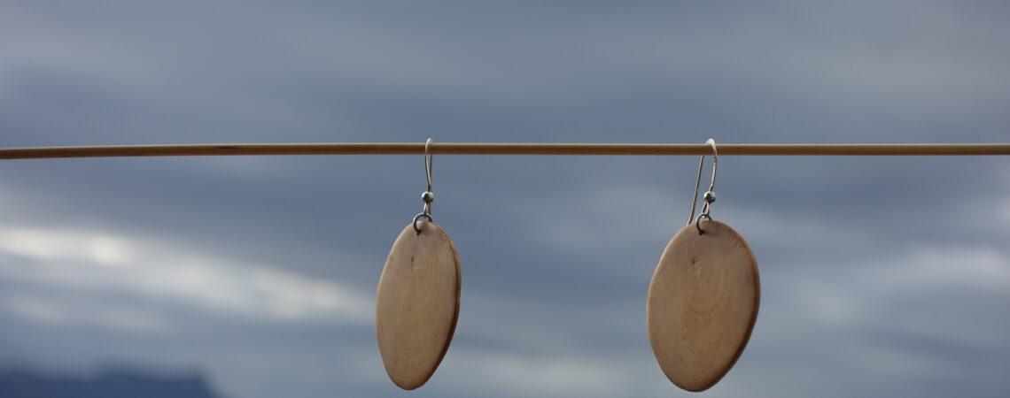 Boucles d'oreilles en bois de fusain