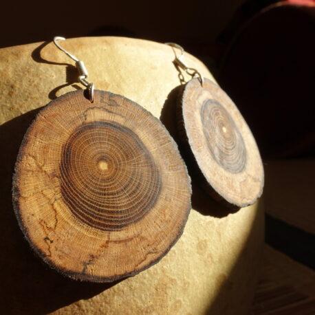 Boucles d'oreille en bois de cytise