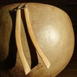 Boucles d'oreille en bois de genévrier