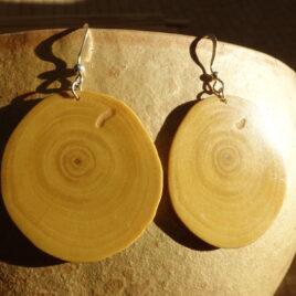 Boucles d'oreille en bois de grenadier