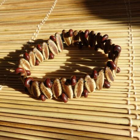 Bracelet en graines de flamboyant et acacia